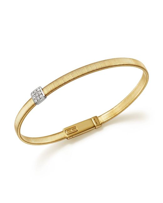 Marco Bicego - Metallic 18k Yellow Gold Masai Single Station Diamond Bracelet - Lyst
