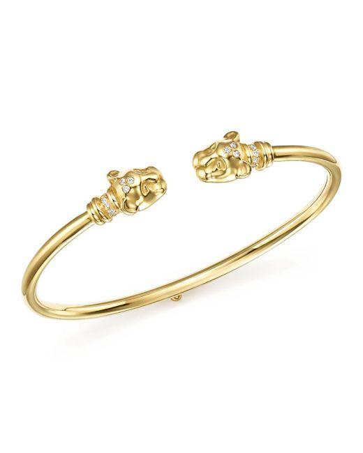 Temple St. Clair - Metallic 18k Yellow Gold Lion Cub Bellina Diamond Bracelet - Lyst