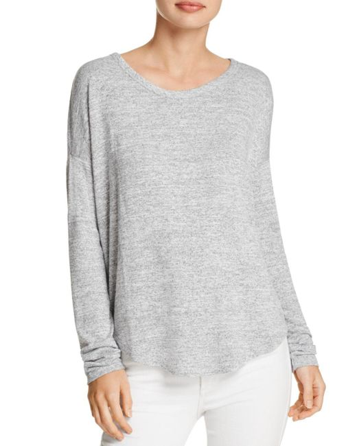 Rag & Bone - Gray Hudson Long-sleeve Tee - Lyst