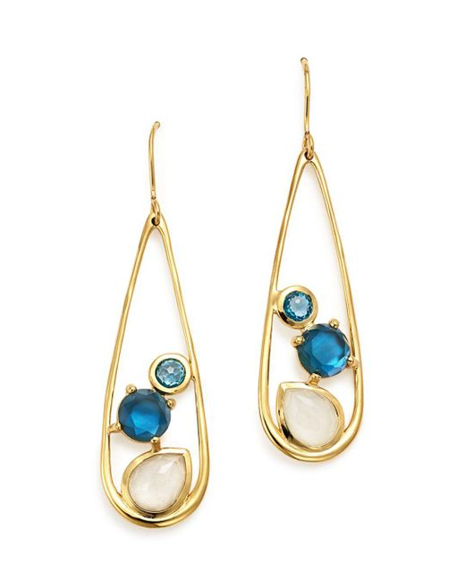 Ippolita - Metallic 18k Yellow Gold Rock Candy® Multi Stone Doublet Drop Earrings In Raindrop - Lyst