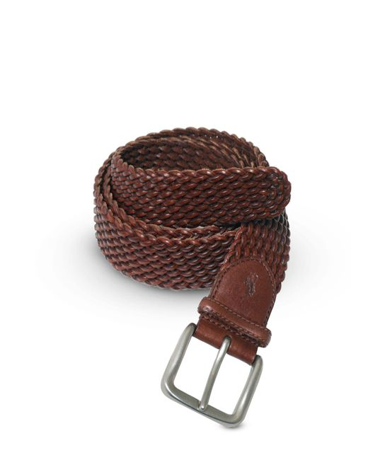 "Ralph Lauren - Brown Polo ""savannah"" Braided Belt - Lyst"