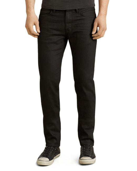 John Varvatos - Bowery Slim Straight Fit Jeans In Jet Black for Men - Lyst