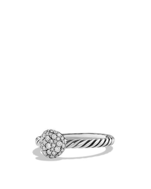 David Yurman | Metallic Petite Pavé Ring With Diamonds | Lyst