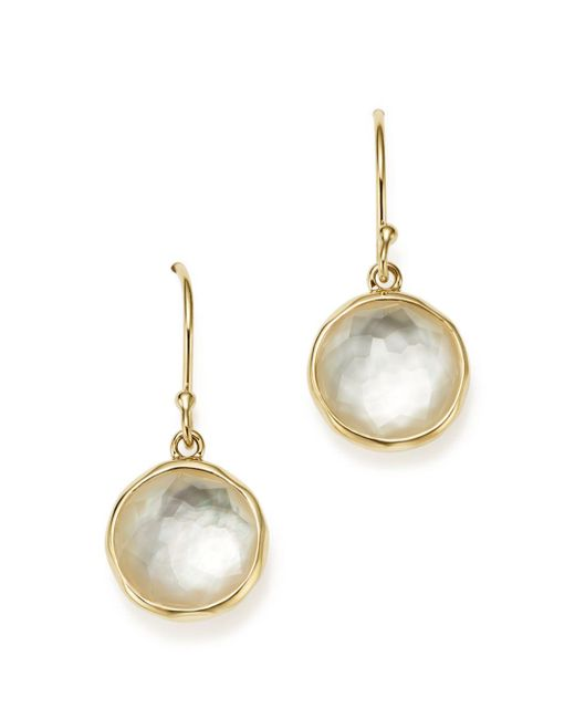 Ippolita - Metallic 18k Yellow Gold Rock Candy Mini Lollipop Earrings In Mother - Of - Pearl Doublet - Lyst