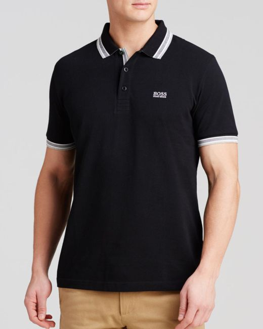 BOSS - Black Paddy Polo - Regular Fit for Men - Lyst