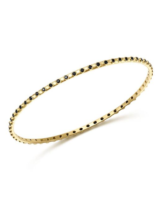 Armenta - 18k Yellow Gold Sueno Black Sapphire Eternity Bangle - Lyst