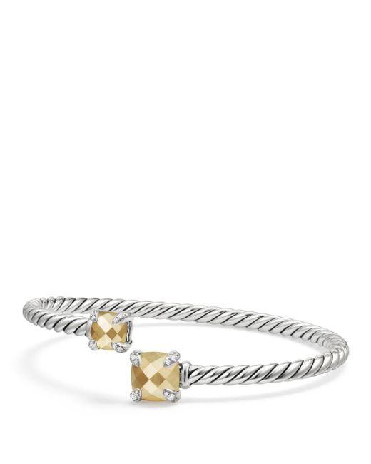 David Yurman - Metallic Châtelaine Bypass Bracelet With 18k Gold And Diamonds - Lyst