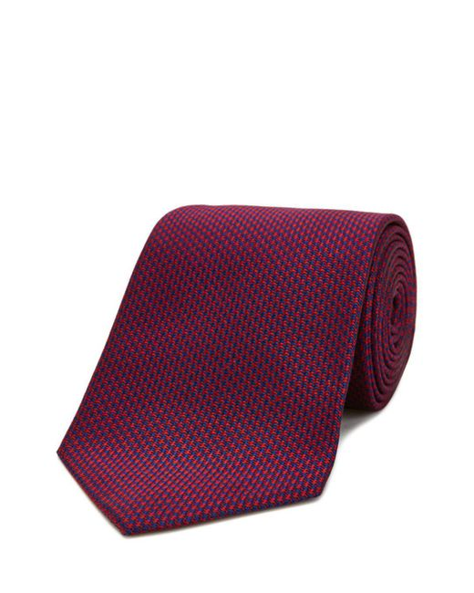 Turnbull & Asser - Purple Houndstooth Classic Tie for Men - Lyst