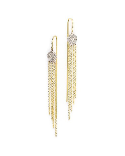 Meira T - Metallic 14k Yellow Gold And 14k White Gold Fringe Earrings With Diamonds - Lyst