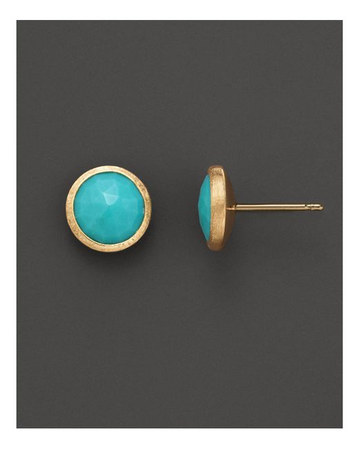 Marco Bicego | Multicolor 18k Yellow Gold And Turquoise Earrings | Lyst
