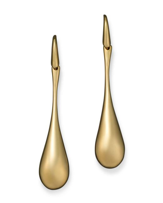 Roberto Coin - 18k Yellow Gold Drop Earrings - Lyst