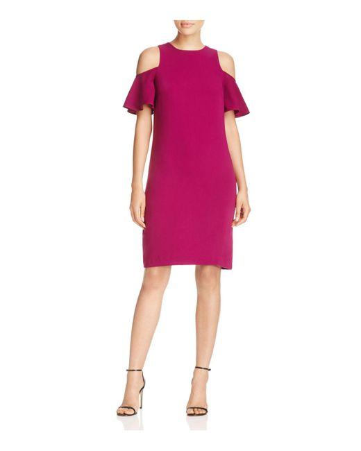 Ralph Lauren   Pink Lauren Cold-shoulder Dress   Lyst