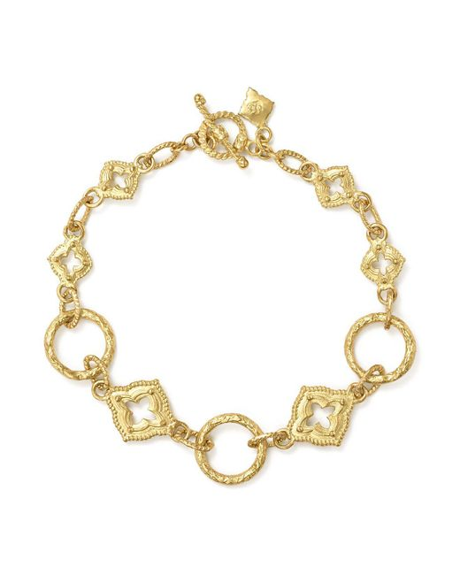 Armenta - Metallic 18k Yellow Gold Sueno Sculpted Circle Link Bracelet - Lyst