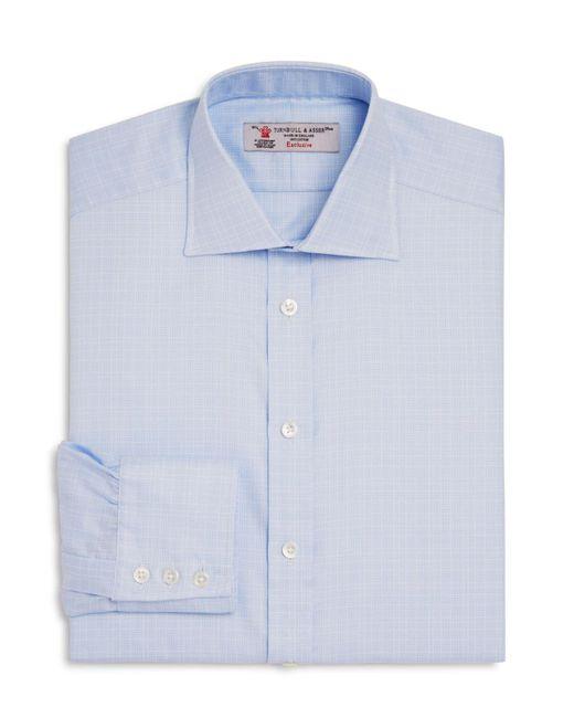 Turnbull & Asser | Blue Textured Grid Reglar Fit Dress Shirt for Men | Lyst