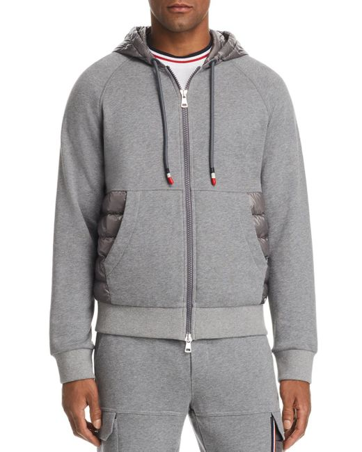 Moncler - Gray Maglia Hooded Zip Cardigan for Men - Lyst