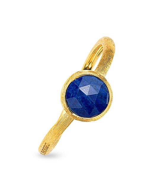 Marco Bicego - Blue Jaipur Lapis Ring In 18k Yellow Gold - Lyst
