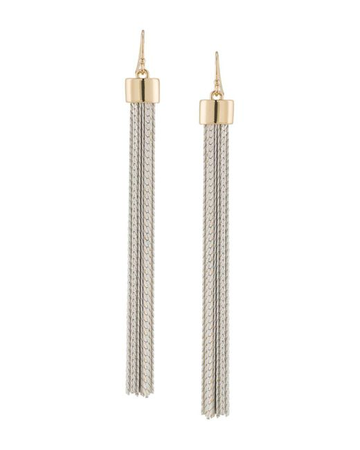 Trina Turk - Metallic Tassel Earrings - Lyst