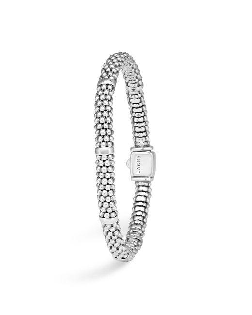 Lagos | Metallic Signature Sterling Silver Petite Caviar Bracelet | Lyst
