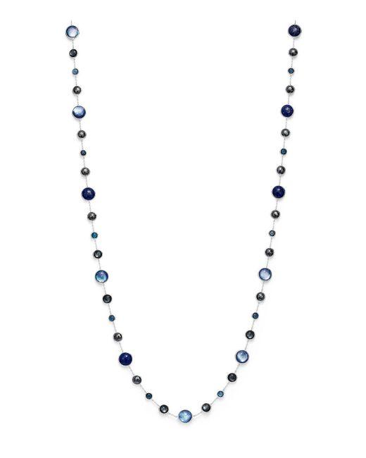 Ippolita - Metallic London Blue Topaz & Hematite Necklace In Eclipse - Lyst