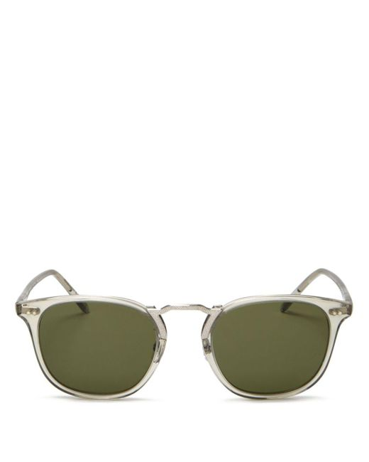 Oliver Peoples - Green Men's Roone 49mm Squared Cateye Sunglasses - Grey for Men - Lyst
