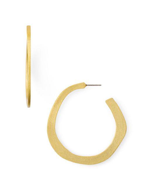 Stephanie Kantis - Metallic Organic Hoop Earrings - Lyst