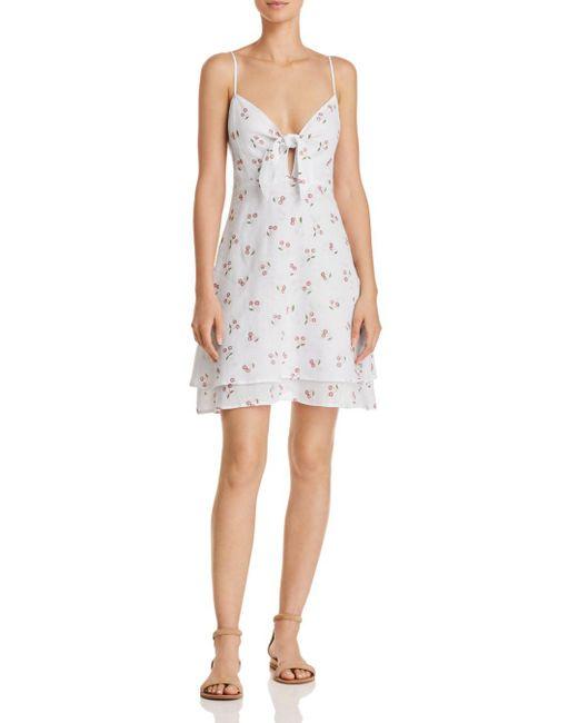 Rails - White August Cherry Print Dress - Lyst