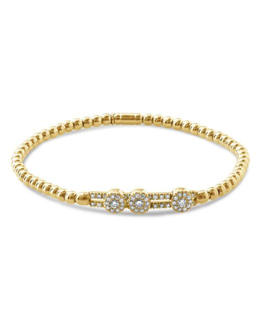 Hulchi Belluni - Metallic 18k Yellow Gold Tresore Diamond Slim Stretch Bracelet - Lyst