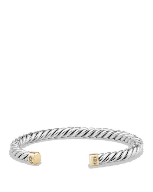 David Yurman - Metallic Cable Classics Cuff Bracelet With 18k Gold for Men - Lyst