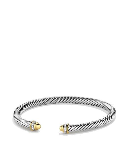 David Yurman - Metallic Cable Classics Bracelet With Gold Domes & Diamonds - Lyst