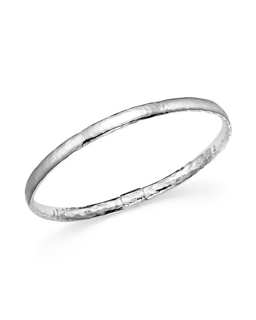 Ippolita - Metallic Sterling Silver Basic Hammered Bangle - Lyst