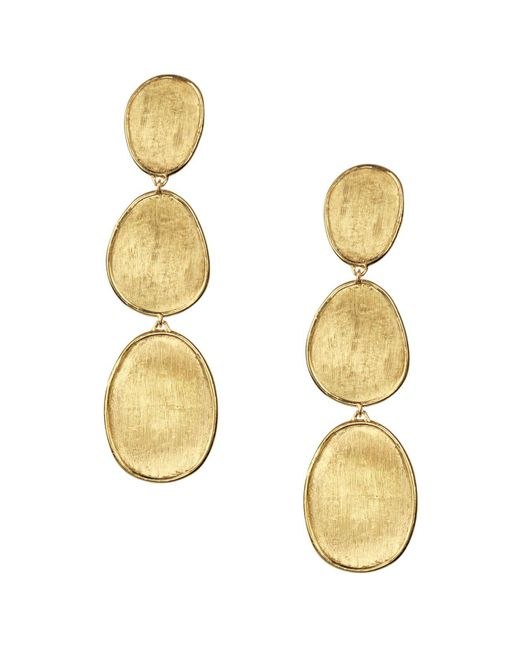 Marco Bicego | Metallic 18k Yellow Gold Lunaria Three Tiered Drop Earrings | Lyst