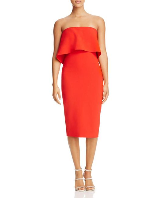 Likely - Red Driggs Strapless Dress - Lyst