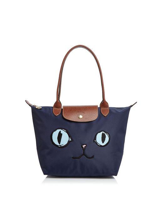 Longchamp - Blue Le Pliage Miaou Medium Tote - Lyst