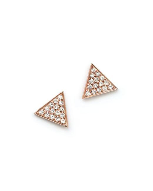 Dana Rebecca   Metallic 14k Rose Gold Emily Sarah Earrings With Diamonds   Lyst