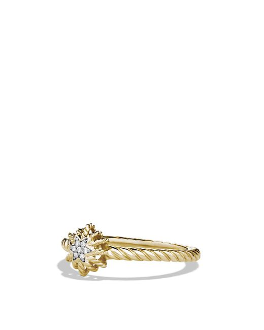 David Yurman | Metallic Small Starburst Ring With Diamonds In Gold | Lyst
