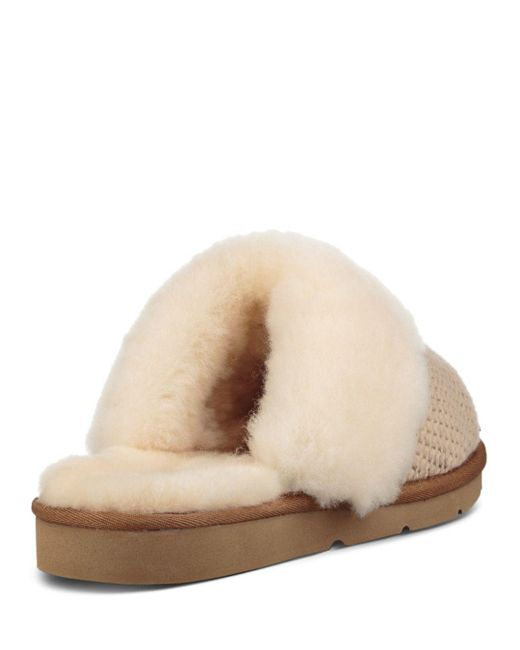 af0ca676bdb Lyst - UGG Cozy Knit Slipper in Natural