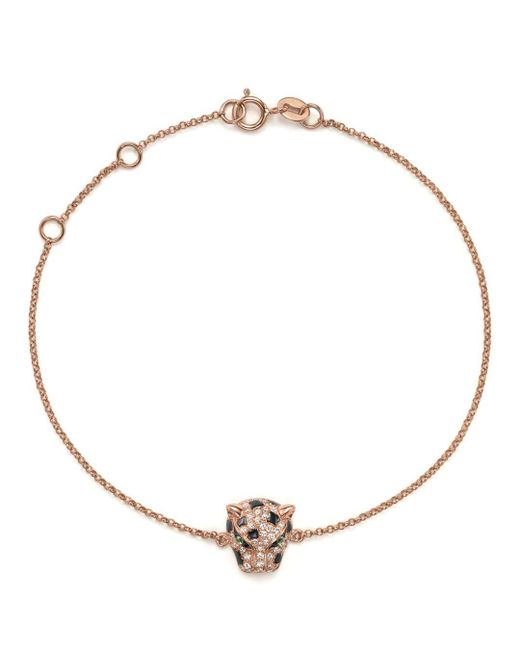 Bloomingdale's - Multicolor Diamond And Tsavorite Panther Bracelet In 14k Rose Gold - Lyst