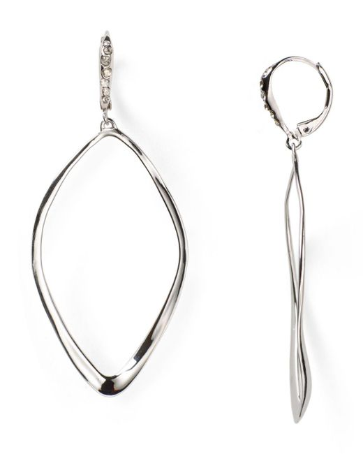 Alexis Bittar - Metallic Miss Havisham Sculpted Aura Teardrop Leverback Earrings - Lyst