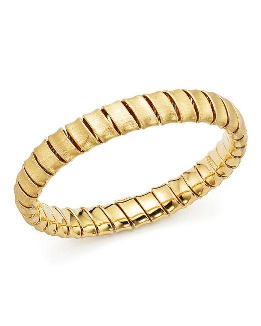 Bloomingdale's - Metallic Coiled Slip-on Bracelet In 14k Yellow Gold - Lyst