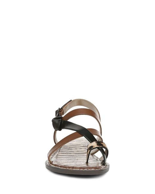 cd5e2ff5b51d Lyst - Sam Edelman Women s Gladis Strappy Knotted Sandals in Brown