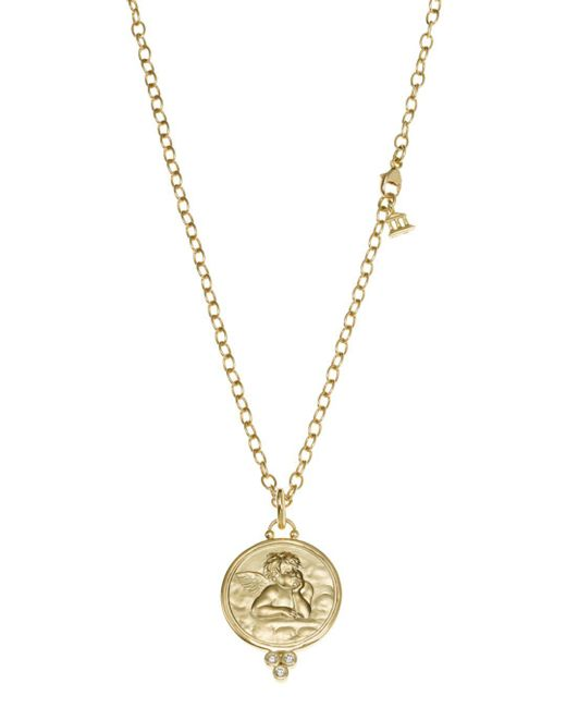 Temple St. Clair - Metallic 18k Yellow Gold Angel Pendant With Diamonds - Lyst