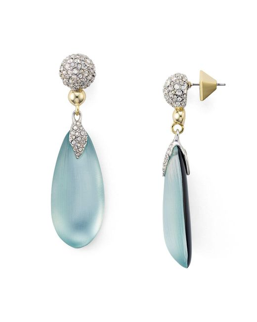 Alexis Bittar - Blue Pavé Lucite Post Earrings - Lyst