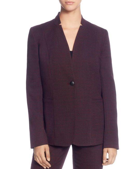 T Tahari - Purple Notch Neck Blazer - Lyst