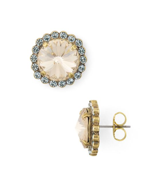 Sorrelli - Metallic Aspen Crystal Stud Earrings - Lyst