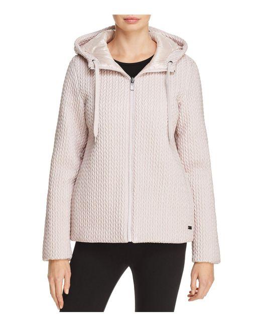 Donna Karan | Pink Reversible Down Jacket | Lyst