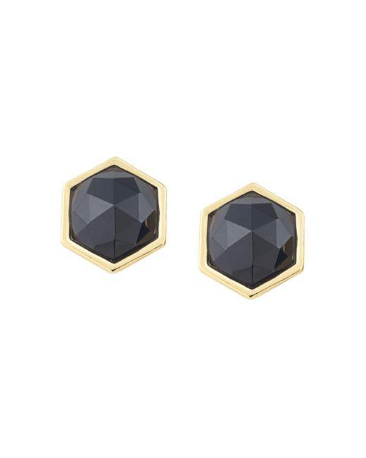 Trina Turk - Black Hexagon Stud Earrings - Lyst