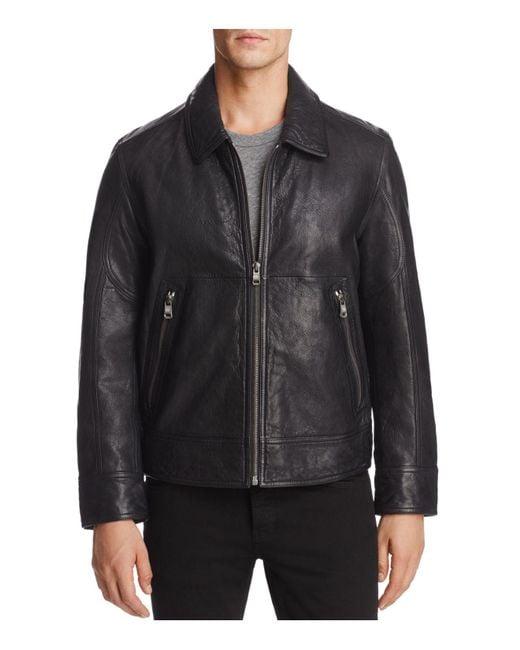 Andrew Marc | Black Morrison Leather Bomber Jacket for Men | Lyst