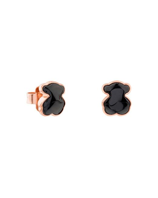 Tous - Black Onyx Mini Bear Stud Earrings - Lyst