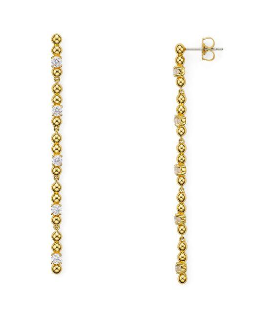 Nadri | Metallic Eclat Cubic Zirconia Linear Earrings | Lyst