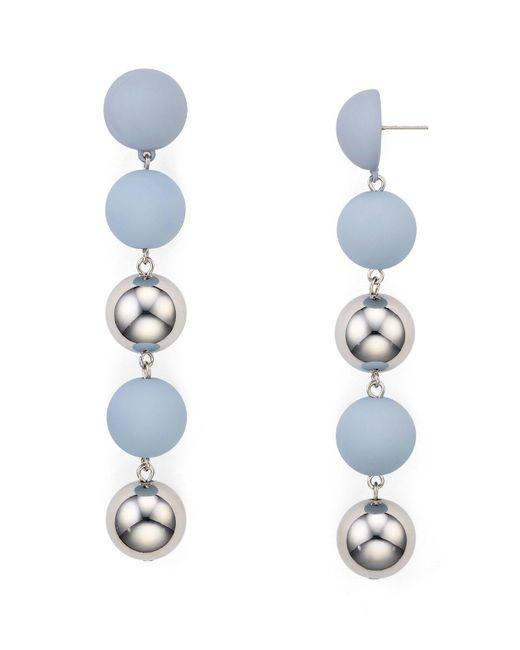 Aqua | Multicolor Natalie Ball Earrings | Lyst